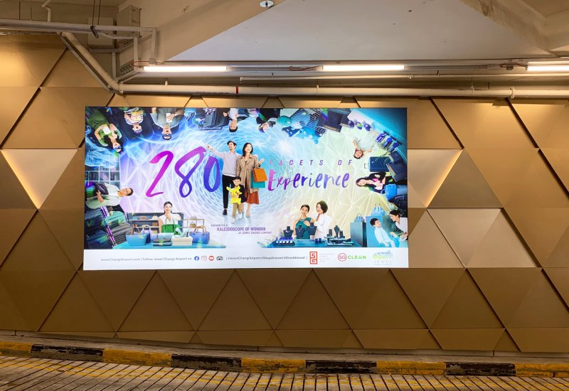 Jewel Changi Airport Large Format Printing and Installation