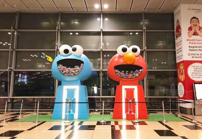 Sesame Street Gachapon Changi Airport T3